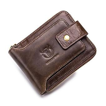 Skórzany portfel Clamp Card Holder Wallet (kawa)