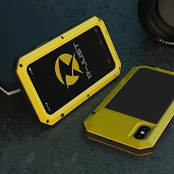 الاشياء المعتمدة® اي فون 6S 360 درجة حالة الجسم الكامل خزان القضية + حامي الشاشة - غطاء واقية من الصدمات الأصفر