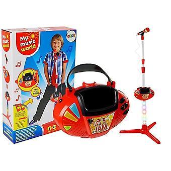 Conjunto de karaokê de brinquedo com conexão MP3 – Vermelho