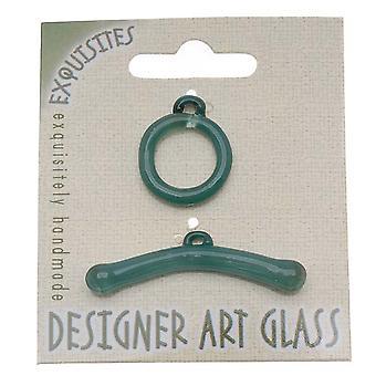 Beadsmith Borosilicate lasi vaihtaa lukko - Vesi - 19,5mm (1)