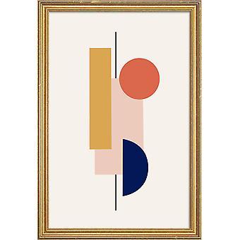 JUNIQE Print - Sway - Abstraite et géométrique poster en coloré