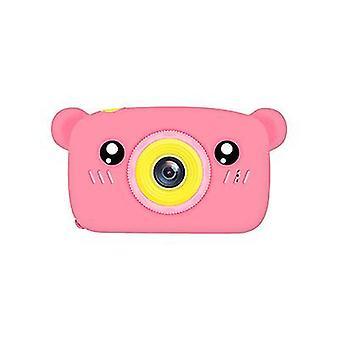 Bear pink portable full-hd 1080p digital mini camera for kids child az950