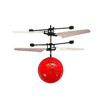 Bal rode kinderen buiten hand sensor controle led knipperende bal helikopter vliegtuigen az8911
