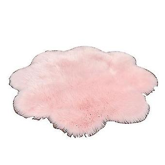 60Cm pink plush round bedroom carpet round cushion az17670