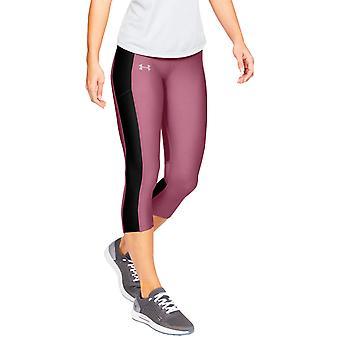 Under Armour Speed Stride Womens Ladies Fitness Capri Tight Pink