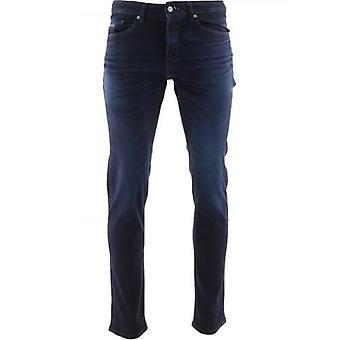 BOSS Dark Blue Taber Super-Stretch Tapered Jean