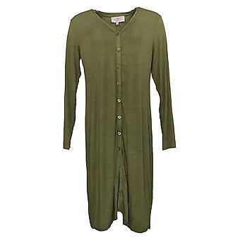 Laurie Felt Suéter de Mujer Pequeño Fusible Modal Maxi Cardigan Green A375438