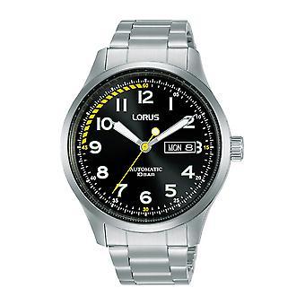 Lorus RL457AX9 Heren Zwarte Wijzerplaat Automatisch Horloge met Roestvrijstalen Armband