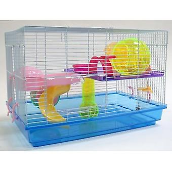 """6804 3/8"""" Bar Spacing Tall Shall Top Small Bird Cage With Stand - 18""""X14"""" In White"""