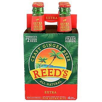 Reeds Soda Ginger Extra, Case of 6 X 48 Oz