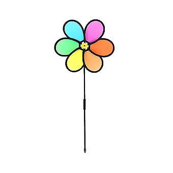 2kpl Ulkona Lapset Leikkiminen Tuulimylly Luova Värikäs Kukka Muotoiltu Pinwheel Lapset Koulutus Lelu (satunnainen lisävaruste väri)