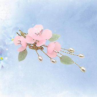 Clip vintage de cheveux incrusté de perles de style chinois