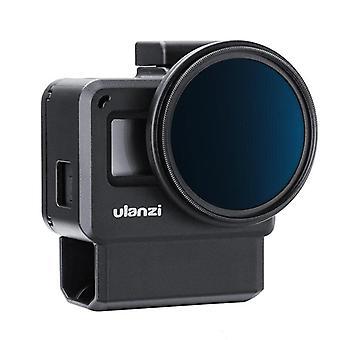 V2 Pro Vlog Protective Case with 52mm Filter Mic Adapter Lens Cover Vlogging Cage for Gopro 7 6 5