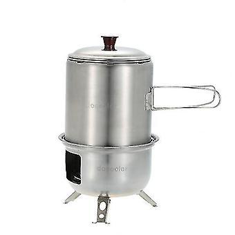 التخييم أدوات الطبخ dinnerware docooler المحمولة الفولاذ المقاوم للصدأ موقد الخشب خفيفة الوزن صلب موقد الكحول الطبخ نزهة bbq في الهواء الطلق