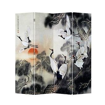 Hieno aasialainen viiltävä kiinalainen itämainen huoneenjakaja taittuva yksityisyysnäyttö 4 paneelia W160xH180cm nosturit Sunrise