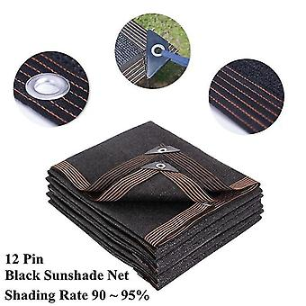 2x3M musta 12 nastan paksu anti UV HDPE varjostus verkko kasvihuone mehevä kasvi aurinkovarjo verkko