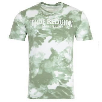 True Religion Tie Dye Crew Neck T-Shirt - Green