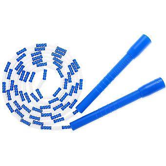 Sjippetov - Blødt beaded segment sjippetov - Justerbart virvarfrit fancy reb til træning (blå)