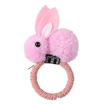 10PCS Cute rabbit hair ring Headband female rubber band elastic hair bands girl Korean headwear