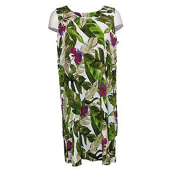 Susan Graver Petite Dress Liquid Knit Vestido sin mangas con niveles Verde A377871