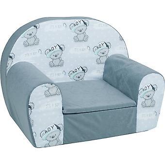 Luxe kinderstoel - zetel - sofa - 60 x 45 - it's a boy grijs