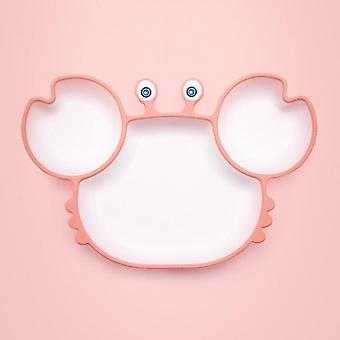 Baby Silicone Sucker Tableware For Baby Cartoon Crab Anti-fall Dinner Plate Infant Kids Supplementary Food Bowl Soft Dishes