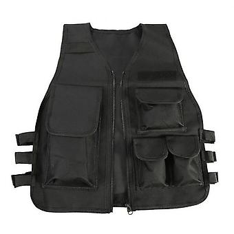 Outdoor Protection Camouflage Tactical Vest Vest Cs Games Airsoft Molle Plate Kids Compelt Set For Nylon Black