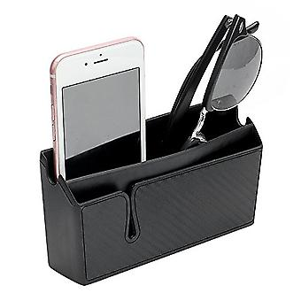 Phone Holder Stand Pu Leather Car Storage Box Stowing Tidying Auto Seat Bag For Phone Charge Keys Coins Car Organizer Container