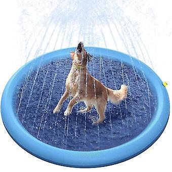 Spiel Kühlung Haustier Sprinkler Matte Schwimmbad Outdoor Aufblasbare Wasser Spray Pad (170cm)