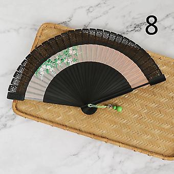Antique Craft Gifts Hand-painted Hollow Classical Portable Folding Bamboo Fan