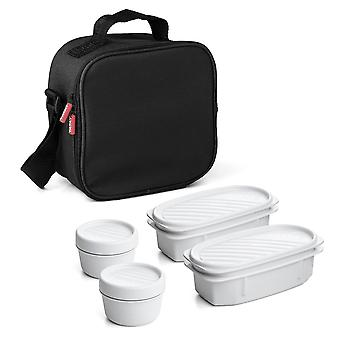 Household storage containers urban food kit  fabric  black  one size