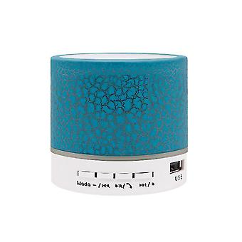 Crack Bluetooth-Lautsprecher, Mini-Subwoofer drahtlose Licht emittierender Lautsprecher (Blau)