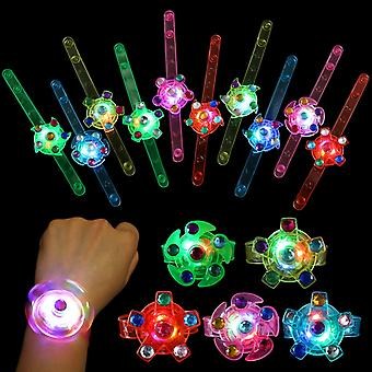 Kids Party Gift- Led Light Up Fidget Bracelet, Gifts For Kids Birthday, Halloween, Christmas, Party Favor, 24 Packs