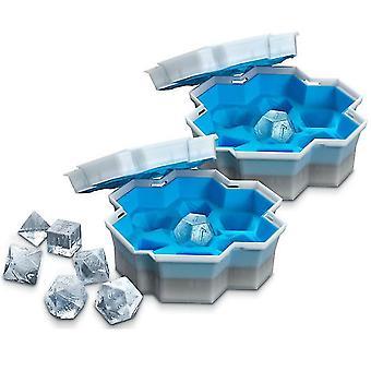 Caraele Ice Cream Tools Ice Dice Ice Cube Mold Reusable Cream Mold Dice Ice Maker