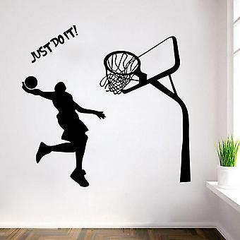 Basketbal speler muurstickers woonkamer decor behang kunst sticker