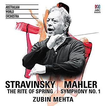 Mehta, Zubin/Australian World Orchestra - Rite of Spring/Mahler Symphony No. 1 [CD] USA import