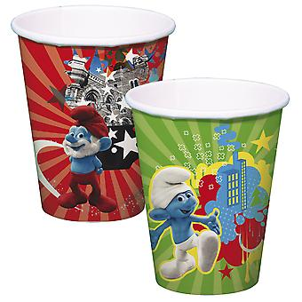 Urodziny dla dzieci Smerfy Cup dla dzieci Strona 8 szt