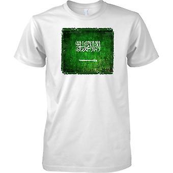 Saudi Arabien Grunge Grunge Effekt Flag - T-Shirt für Herren