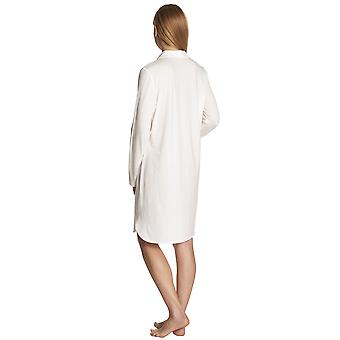 Féraud 3883031-10044 Women's Champagne White Sleep Shirt Nighty Nightshirt