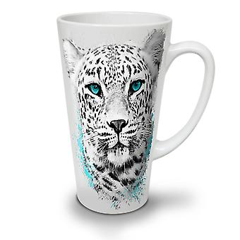 Tijger dierlijke Wild Cat nieuwe witte thee koffie keramische Latte Mok 12 oz | Wellcoda