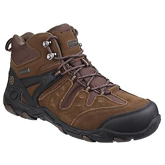 Cotswold Mens Coberley Waterproof Lace up Hiking Boots Olive/Brown