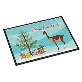 ビクーニャやビクーニャ クリスマス屋内または屋外マット 18 x 27