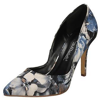 Ladies Anne Michelle Pointed Toe Court Shoes - Black Multi Textile - UK Size 8 - EU Size 41 - US Size 10