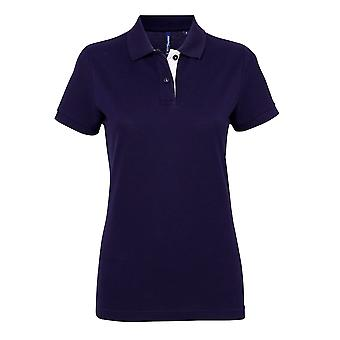 Asquith & Fox Womens/Ladies Short Sleeve Contrast Polo Shirt