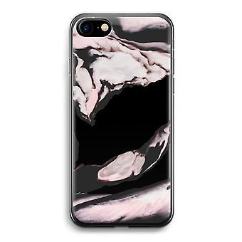 iPhone 7 transparante Case (Soft) - roze stream