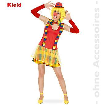 Klovn Lady kostume Clownkleid Clownette fjols fjols damer kostume