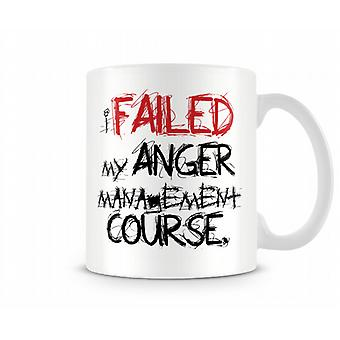 Mislukte woede Management bedrukte mok