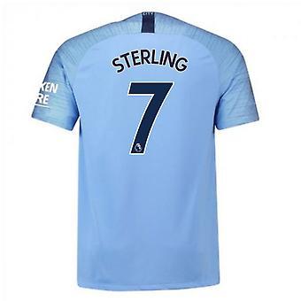 2018-2019 Man City Home Nike Fußballtrikot (Sterling 7)