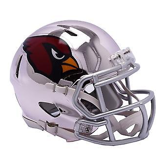 Casque de football mini de Riddell - NFL Arizona Cardinals CHROME