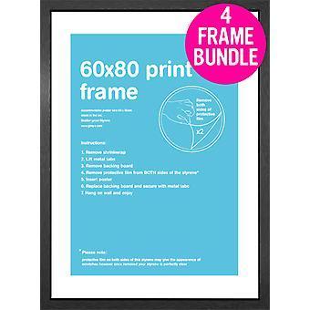 GB julisteita 4 musta MDF juliste kehyksiä 60 x 80cm nippu